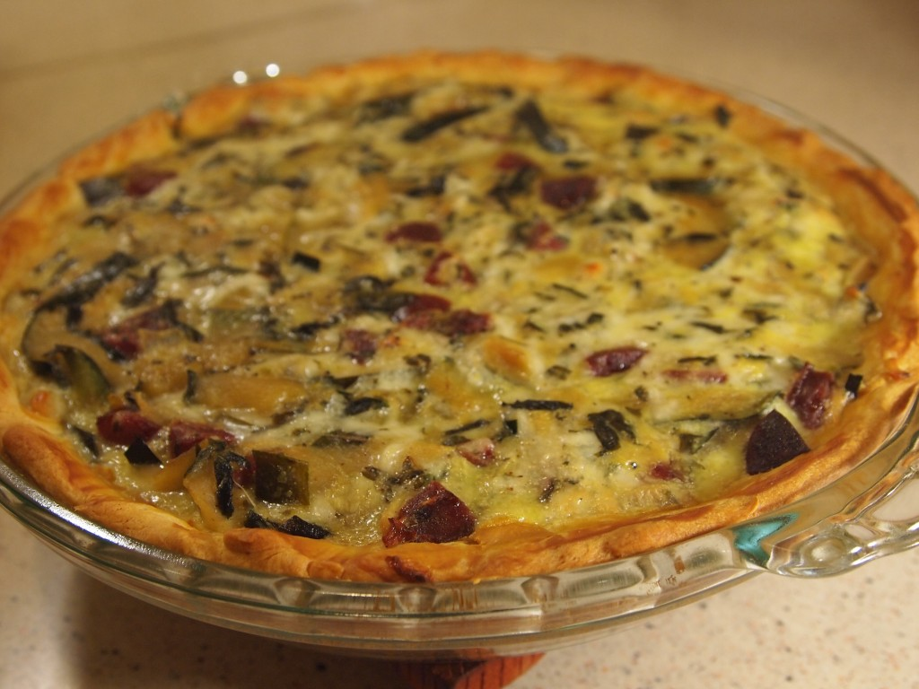 Zucchini quiche with sausage kiki bird kitchen for Decoration quiche
