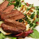 steak salad with fennel and pomegranate