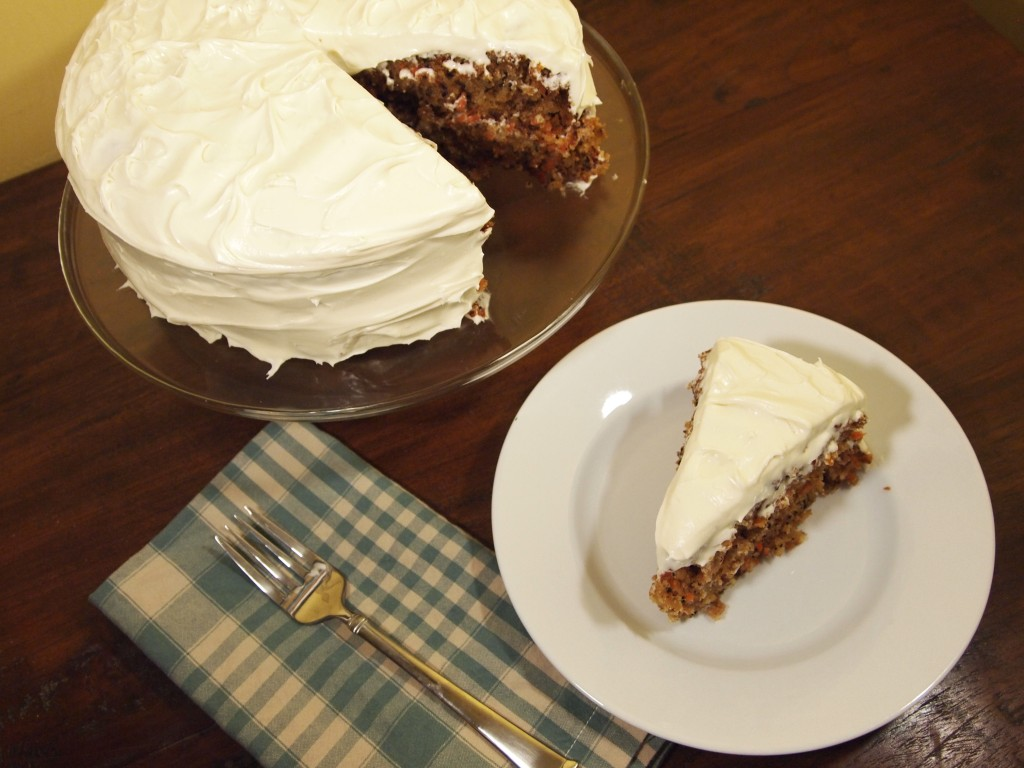 slice of carrot layer cake