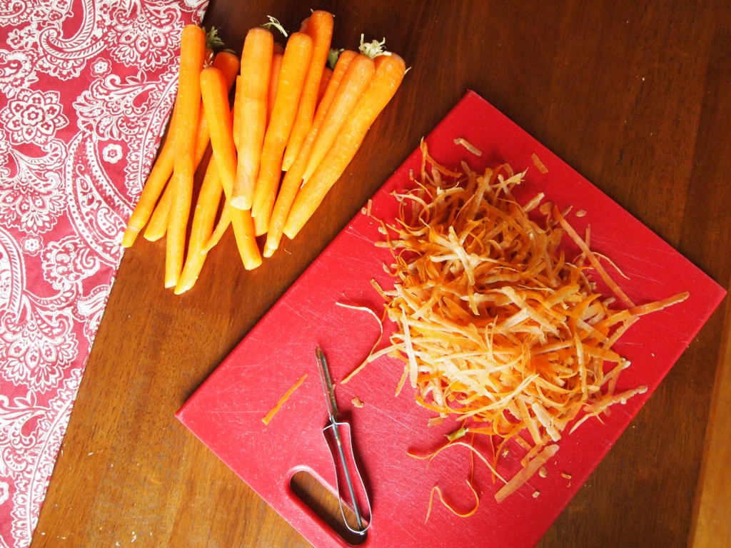 carrots and carrot peels