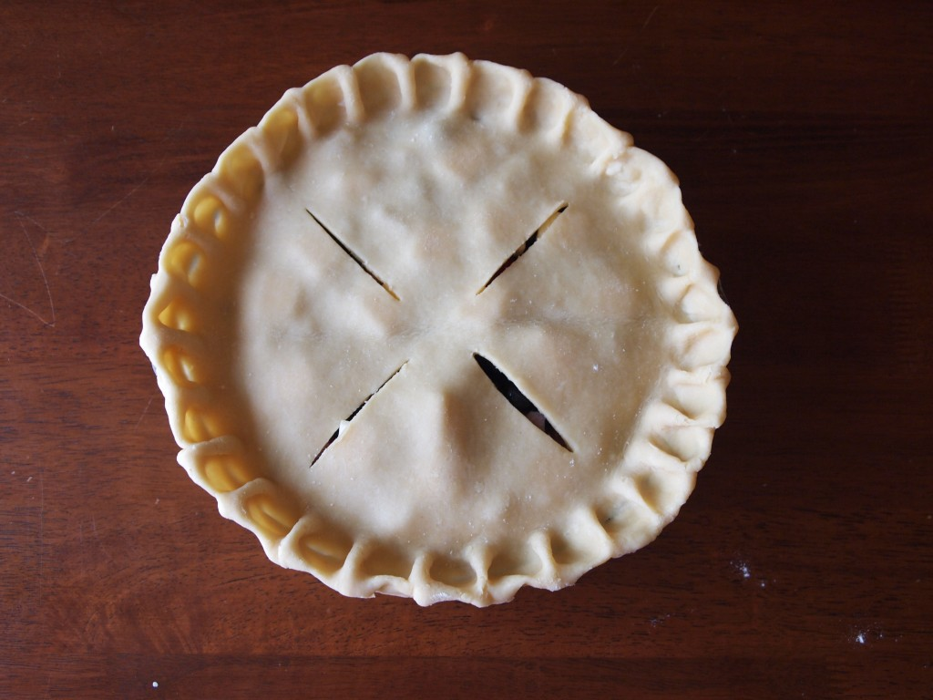pie assembled and oven ready