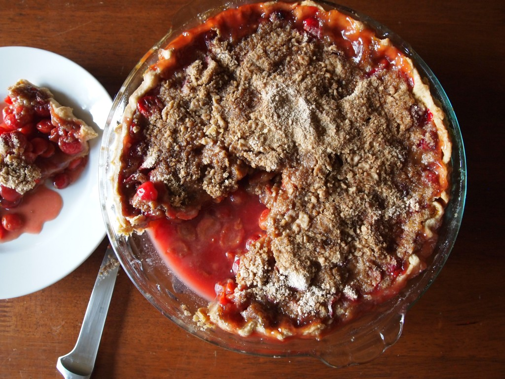 pie with almond sour cherry pie sour cherry streusel pie first i made ...