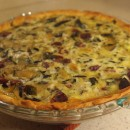 zucchini quiche with sausage